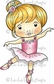 La-La Land Cling Mount Rubber Stamp - Marci Ballerina