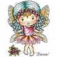 La-La Land Cling Mount Rubber Stamp - Rose Faerie Marci
