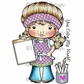 La-La Land Cling Mount Rubber Stamps - Coloring Marci