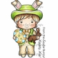 La-La Land Cling Mount Rubber Stamps - Easter Bunny Luka