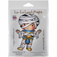 La-La Land Cling Mount Rubber Stamps - Egyptian Mummy Luka