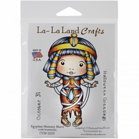 La-La Land Cling Mount Rubber Stamps - Egyptian Mummy Marci