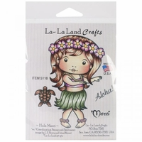 La-La Land Cling Mount Rubber Stamps - Hula Marci