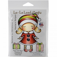 La-La Land Cling Mount Rubber Stamps - Paper Doll Marci/Christmas Elf