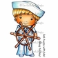 La-La Land Cling Mount Rubber Stamps - Sailor Luka