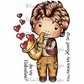 La-La Land Cling Mount Rubber Stamps - Saxophone Luka