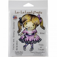 La-La Land Cling Mount Rubber Stamps - Zombie Marci