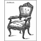 """LaBlanche Silicone Stamp 3.5""""x2.75"""" - Armchair"""