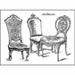"LaBlanche Silicone Stamp 3.75""x2.75"" - Chairs"