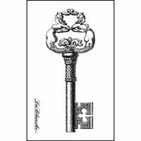 """LaBlanche Silicone Stamp 3""""x2"""" - Intricate Key"""