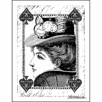 """LaBlanche Silicone Stamp 3""""x4"""" - Queen Of Spades"""