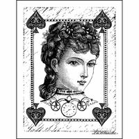 """LaBlanche Silicone Stamp 3""""x4"""" - Sweet Poker Face"""