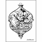 "LaBlanche Silicone Stamp 4""x3"" - Intricate Glass Ornament"