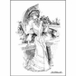 "LaBlanche Silicone Stamp 4""x3"" - Lady With Parasol"