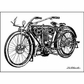 """LaBlanche Silicone Stamp 4""""x3"""" - Motorcycle"""