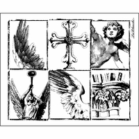 """LaBlanche Silicone Stamp 4""""x4.5"""" - Wing Pieces"""
