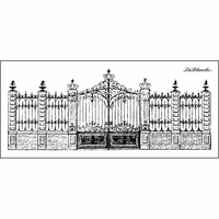"""LaBlanche Silicone Stamp 5.5""""x2.5"""" - Stately Gate"""