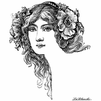 LaBlanche Silicone Stamp - Floral Hair-Do