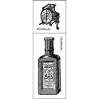 Lablanche Silicone Stamps 2/Pkg - Bottle & Scale
