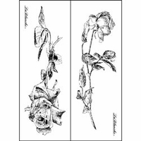 Lablanche Silicone Stamps 2/Pkg - Roses