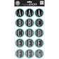 Large Alphabet Stickers Chalk - Circle Light Blue