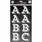 Large Alphabet Stickers Chalk - Trend White