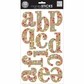 Large Alphabet Stickers Confetti - Kraft