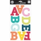 mambiSTICKS Large Alphabet Stickers - Colorful Squiggles/Uppercase