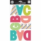 mambiSTICKS Large Alphabet Stickers - Mini Patterns/Uppercase