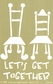 "Lasting Impressions Brass Embossing Template 4""x6"" - Lets Get Together"