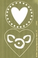 "Lasting Impressions Brass Embossing Template 4""x6"" - Two Decorative Hearts"