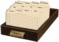 Library Drawer w/Index Cards - Click to enlarge