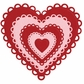 Lifestyle Nesting Dies - Lace Hearts, 5 Dies