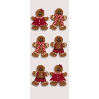 Little B Mini Stickers - Gingerbread Men