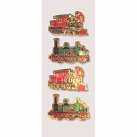 Little B Mini Stickers - Holiday Trains