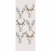 Little B Mini Stickers - White Stags
