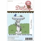 Little Darlings Unmounted Rubber Stamp - Bird Bath