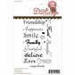 Little Darlings Unmounted Rubber Stamp - Large Words Sentiments