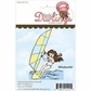 Little Darlings Unmounted Rubber Stamp - Wind Surfer