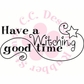 Logo Sentiments Cling Stamps - Have A Witching Good Time