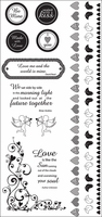 Love Notes Black Rub-Ons