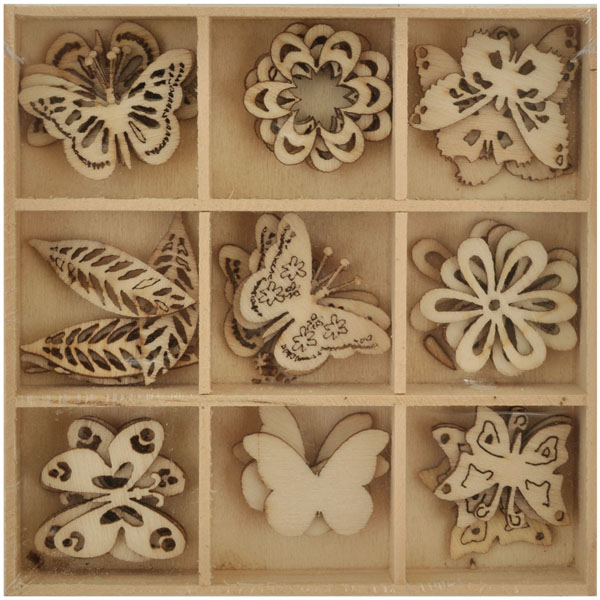 Lucky Dip Wooden Shapes Butterfly