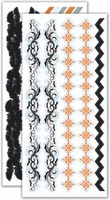 LYB Trick Or Treat Cardstock Stickers - Glitter/Thermography Borders