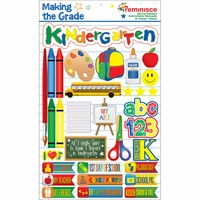 Making The Grade Dimensional Stickers - Kindergarten