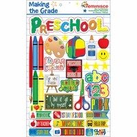 Making The Grade Dimensional Stickers - Preschool