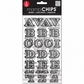 Mambi Chipboard Stickers - Chalk/Alpha Engraved