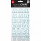Mambi Chipboard Stickers - Chalk/Alphabet Shadow