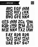 mambiSTICKS Large Alphabet Stickers - Black Uppercase