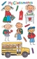 Mambi Minis Stickers - School Kids