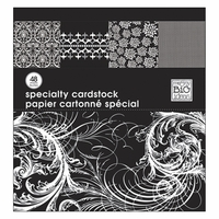 "MAMBI Specialty Cardstock Pad 12""x12"" - Black & White"